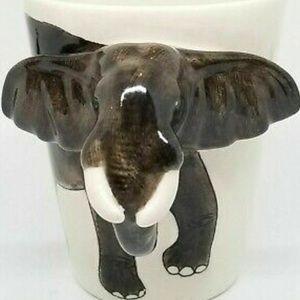 World Market 3D Elephant Mugs- Set of two